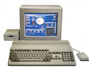 Amiga 500 with Workbench.