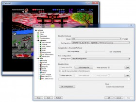 Amiga WinUAE emulator, quick start.