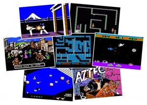Apple II games: Karateka, Castle Wolfenstein, Oregon Trail, Lode Runner, Choplifter, Zaxxon, Aztec