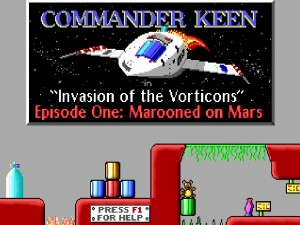 Commander Keen 1 op Windows 10.