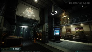 Doom 3 HD Mod: 1920x1080 resolution.