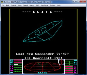 Play Elite with BBC Micro emulator: BeebEm.