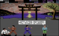 International Karate Plus: WinVICE con CRT emulación.