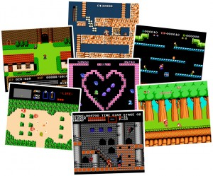 NES games for Windows, Ys, Mega Man, Mario Bros, Legend of Zelda, Bubble Bobble, Adventure Island, Castlevania.