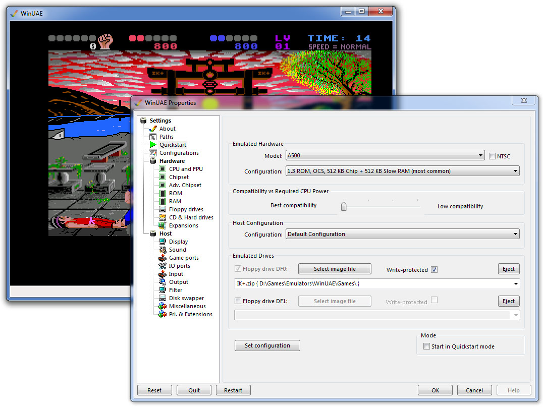 Amiga emulator for Windows 10, 8 and Windows 7: WinUAE