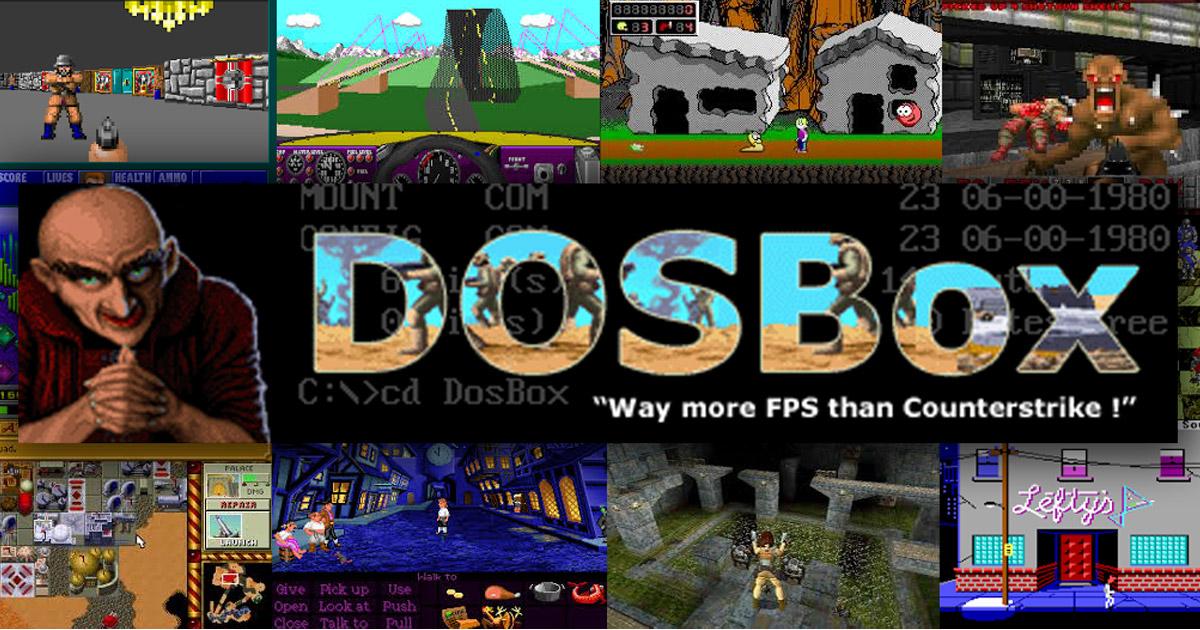Speel DOS games op Windows 10 met DOSBox DOS emulator