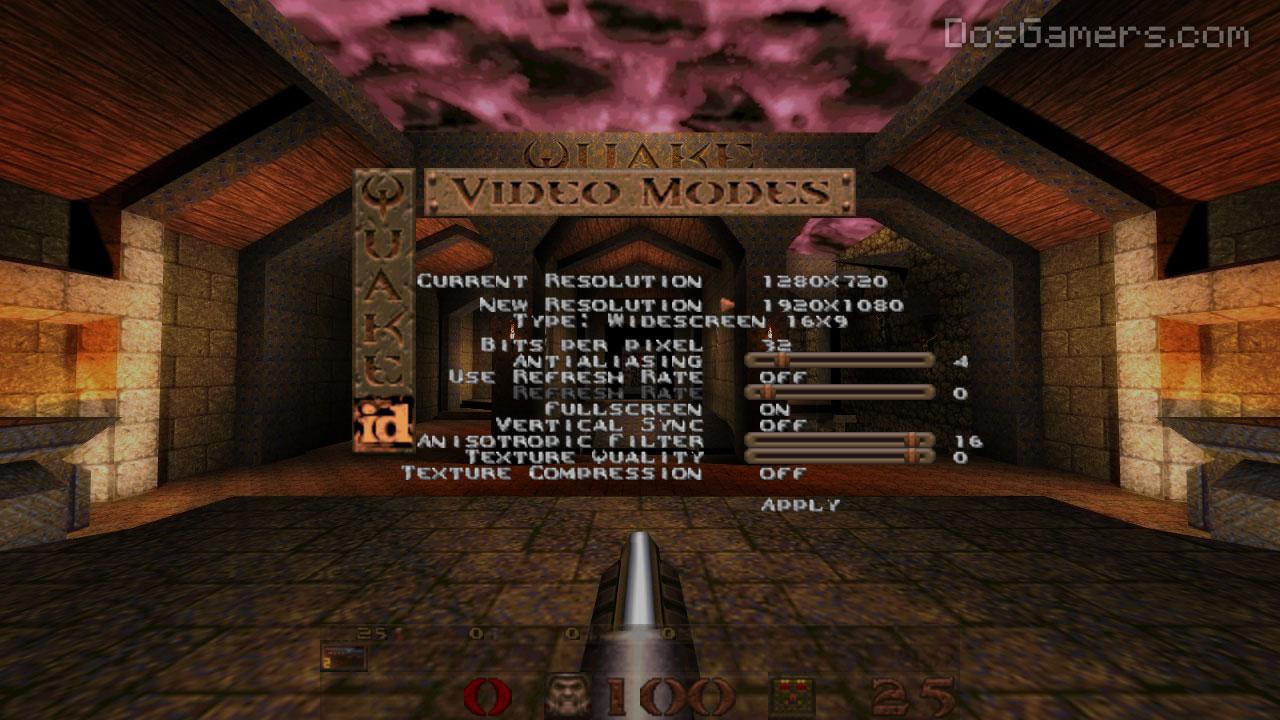 Quake on Windows 7, 8 and Windows 10 high resolution: DarkPlaces