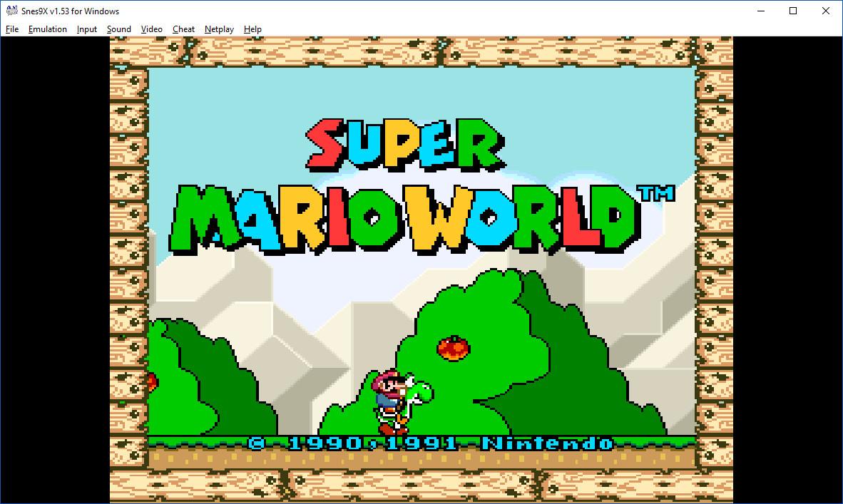 SNES Super Nintendo emulator for Windows 10: SNES9x