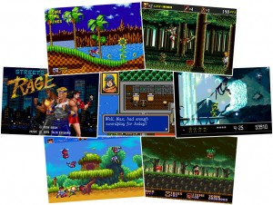 SEGA Games - Sonic The Hedgehog, Shinobi, Streets of Rage, Shining Force, Vector Man, Gunstar Heroes, Castle of Illusion.