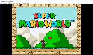 Super Mario World on Windows 10.