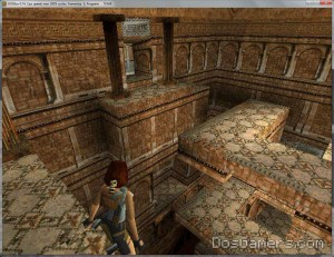 Tomb Raider 1 in Windows 10, 8, Windows 7, Vista, XP met DOSBox.
