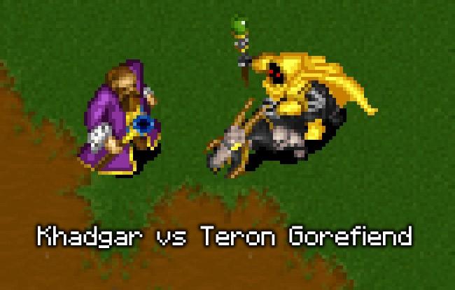 Warcraft 2: Khadgar vs Teron Gorefiend  Who\u0026#39;s gonna win this battle?