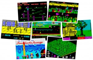 ZX Spectrum Games - Chuckie Egg, Sabre Wulf, Renegade, Manic Minor, Back 2 Skool, Doomdarks Revenge, Head over Heels